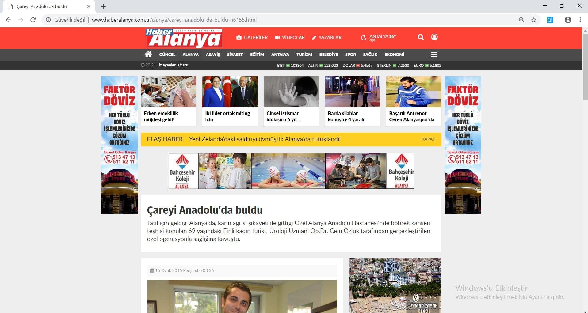 Haber Alanya Cem Özlük